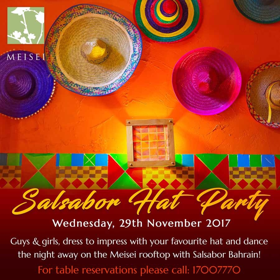 Salsabor Hat Party Wednesday 29th November